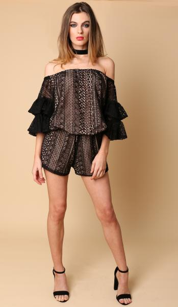 frill top black new june -1