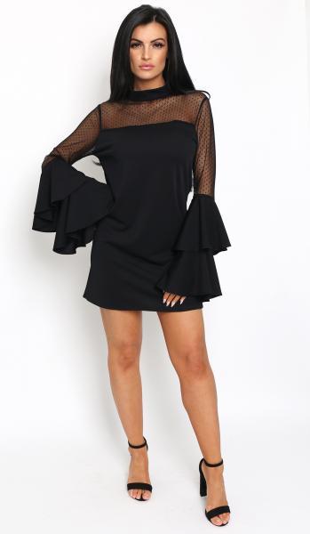 rio frill dress black -2