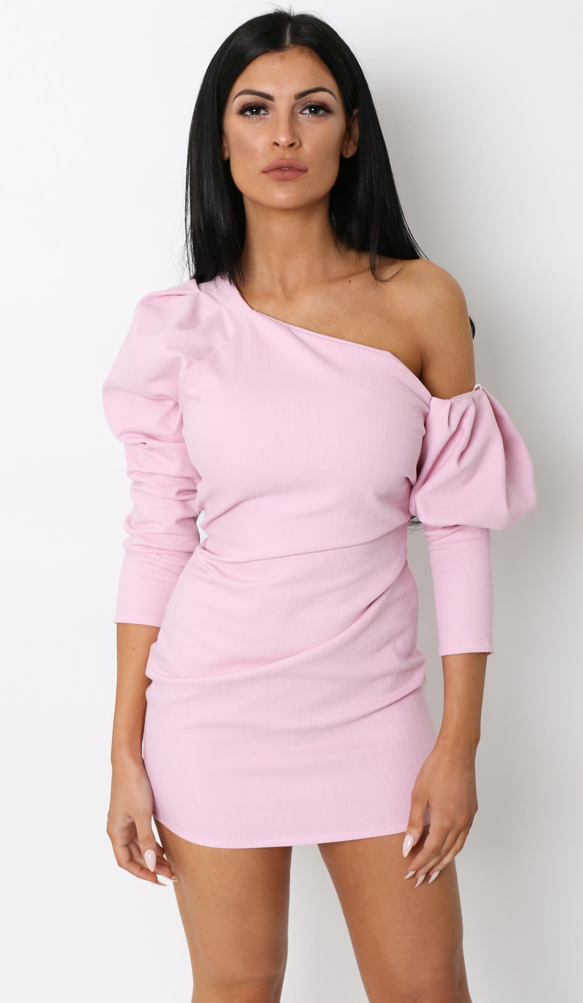 Cheap puff sleeve dress