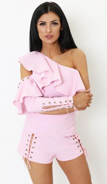 pink suit denim 3 -4