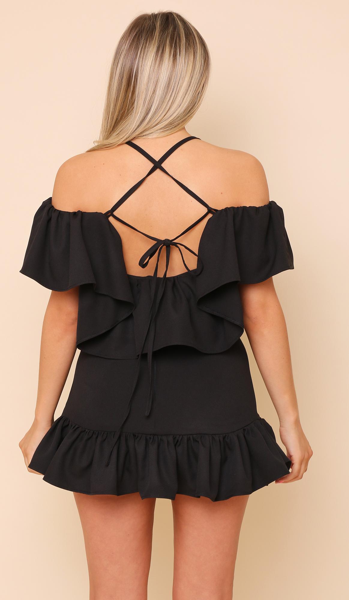456983298ca29a Suki Frill Crop Top   Black - Lola Loves Boutique