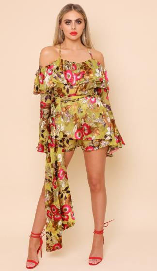 Petra Floral Print Top With Tie Belt