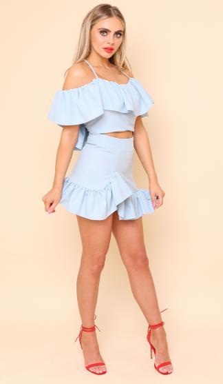 0eef7a613fc375 You re viewing  Suki Frill Skirt  Sky Blue £75.00