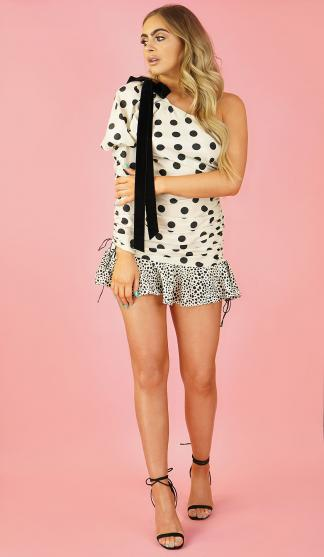 Dotty Over Spots Ruched Dress