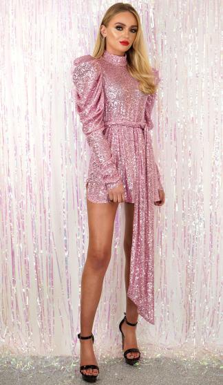 FiFi Pink Sequin Dress