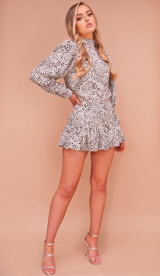 Dalmatian Print Harper Top & Frill Skirt Set