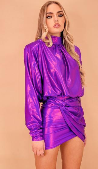 Elektra Batwing Dress /Purple Shimmer